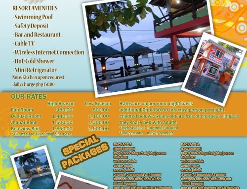 Jhanarieans Beach Resort Print Ads