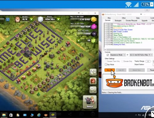 How to install Bot for Clash of Clan for Auto Gold, elixir, dark elixir collection using Bluestack and Brokenbot on a PC