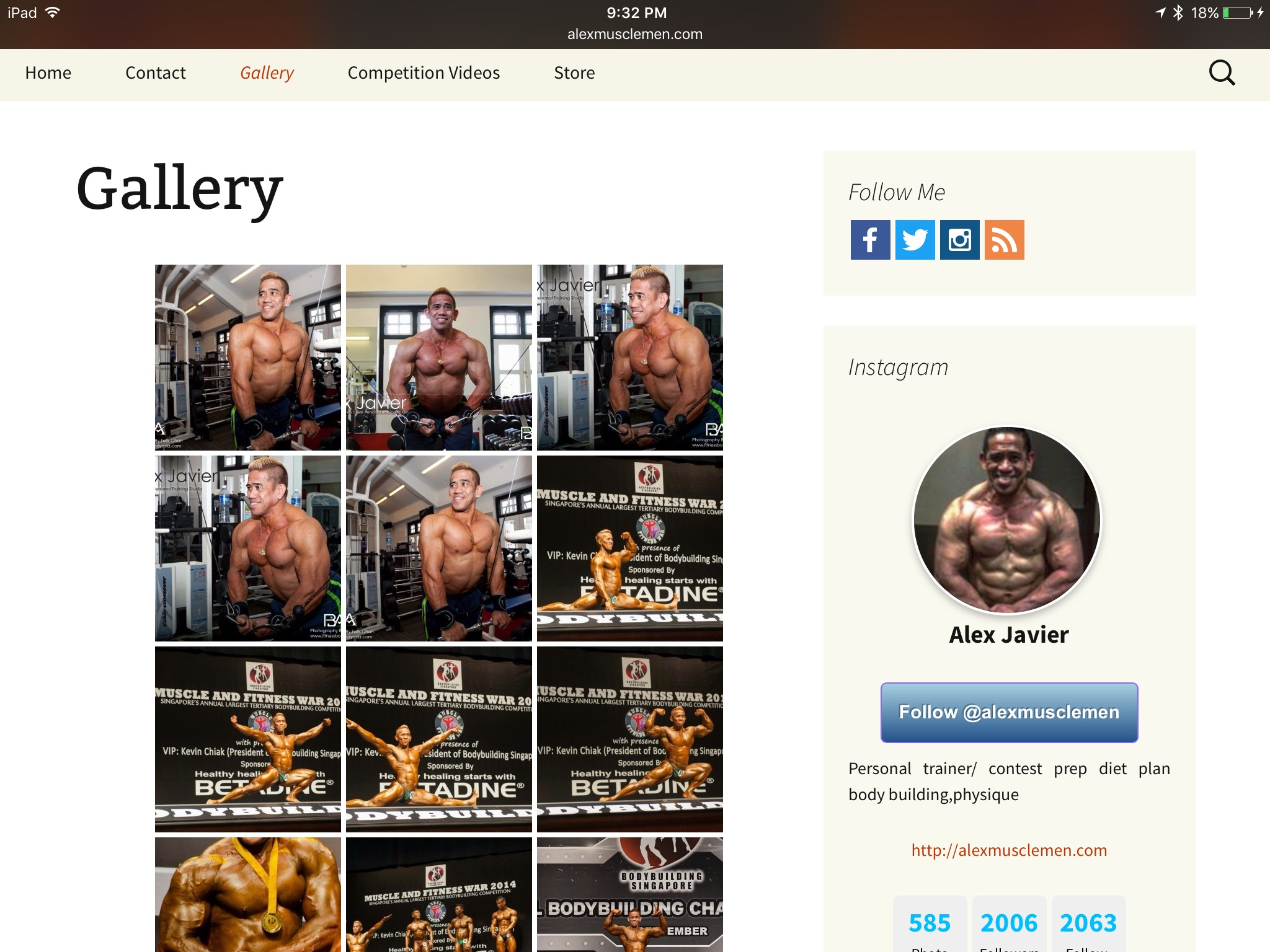 Official website of Alex Javier