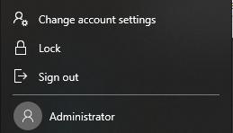 Turn Administrator Account On/Off on Windows 10